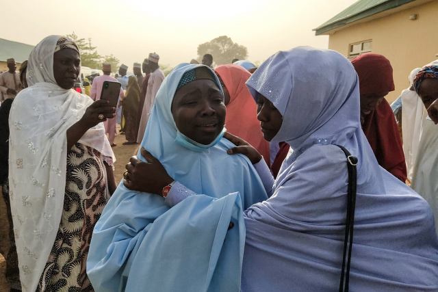 Shooting mars reunion of freed Nigerian schoolgirls with parents