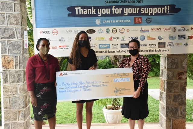 Olympian Felicity Passon's swim challenge nets $41,000 to boost e-counseling services in Seychelles