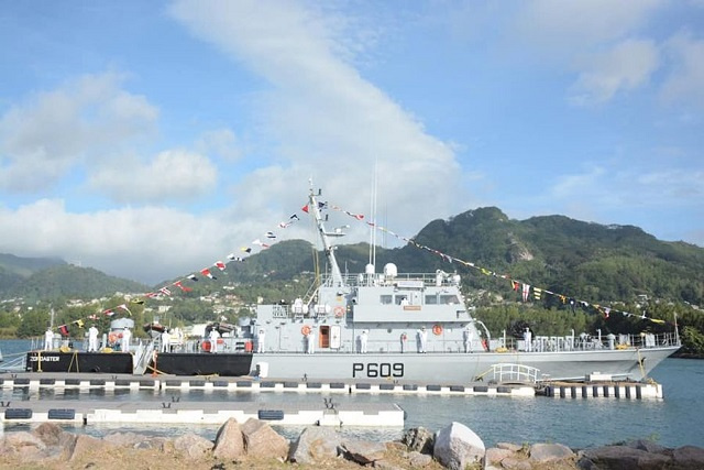 New $13 million craft from India gives Seychelles Coast Guard a boost