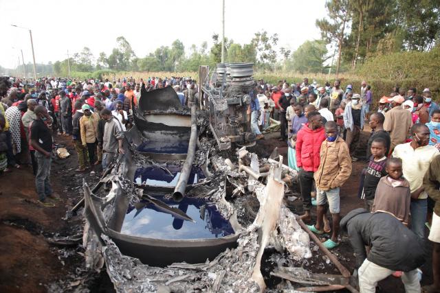 13 dead in 'fireball' as petrol tanker explodes in Kenya