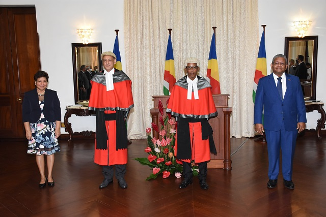 2 new justices sworn in for Seychelles' Supreme Court