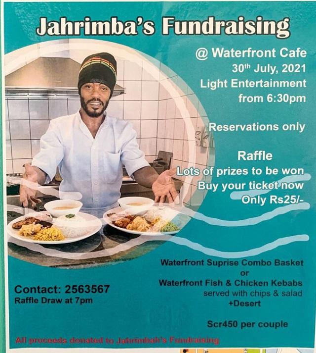 Waterfront Cafe organises fund-raiser for Seychellois artist Jahrimba
