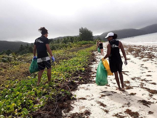 A group called 'Fresh Focus' is working to keep Seychelles' Praslin island clean