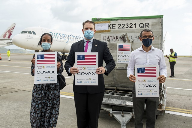 Pfizer vaccines arrive in Seychelles to help nation's youth protect against COVID-19