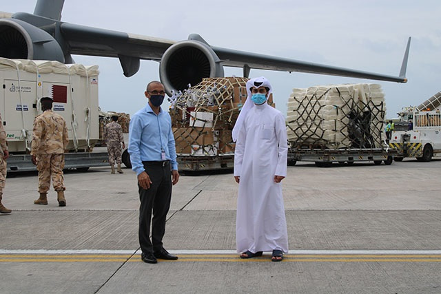 60-bed field hospital donated by Qatar arrives in Seychelles
