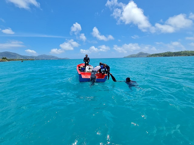 Divers clean marine park in Seychelles as part of global clean-up campaign