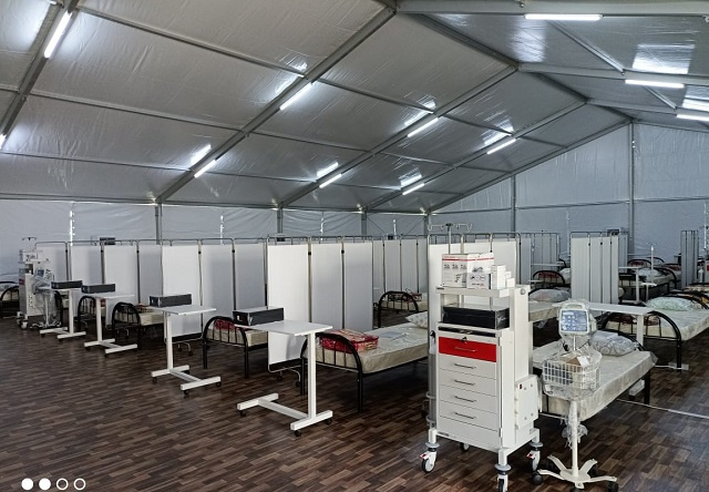 60-bed field hospital from Qatar opens; a back-up facility for COVID cases