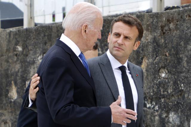 Macron, Biden have 'friendly' talk to defuse submarine row