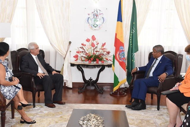 Outgoing Cuban ambassador highlights medical work in Seychelles during last State House visit