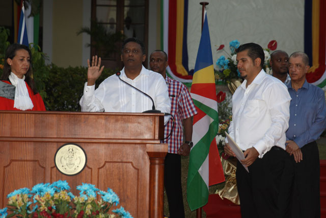 Danny Faure Seychelles new President Danny Faure sworn in to office calls for