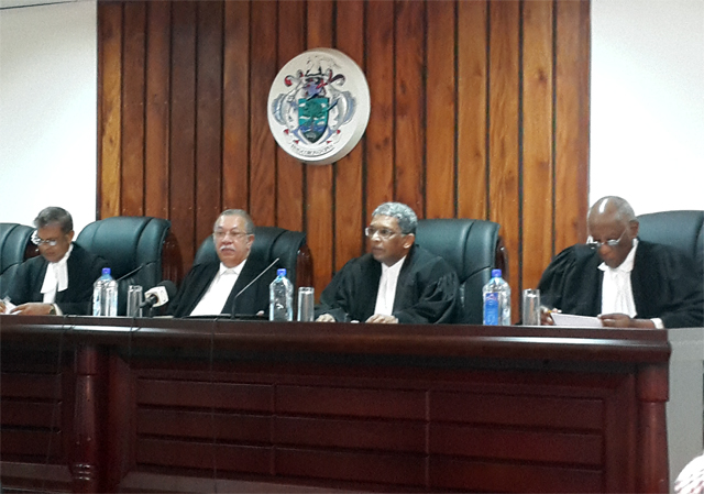 The President of the appeal's court delivered the ruling at the end of its last session for 2016. (Seychelles News Agency)